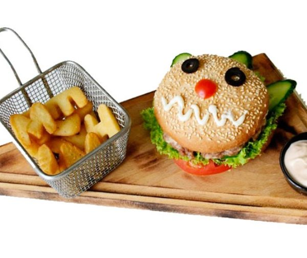 Бургер - Смайл (с алфавитной картошечкой)